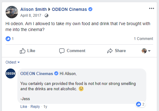 Odeon Food & Popcorn Prices in 2019 — Movie Food Prices