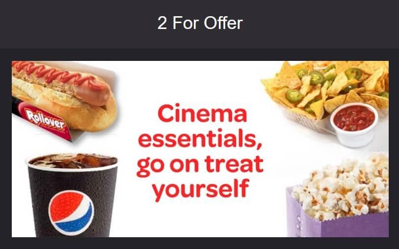 Special Deal On Popcorn At Cineworld